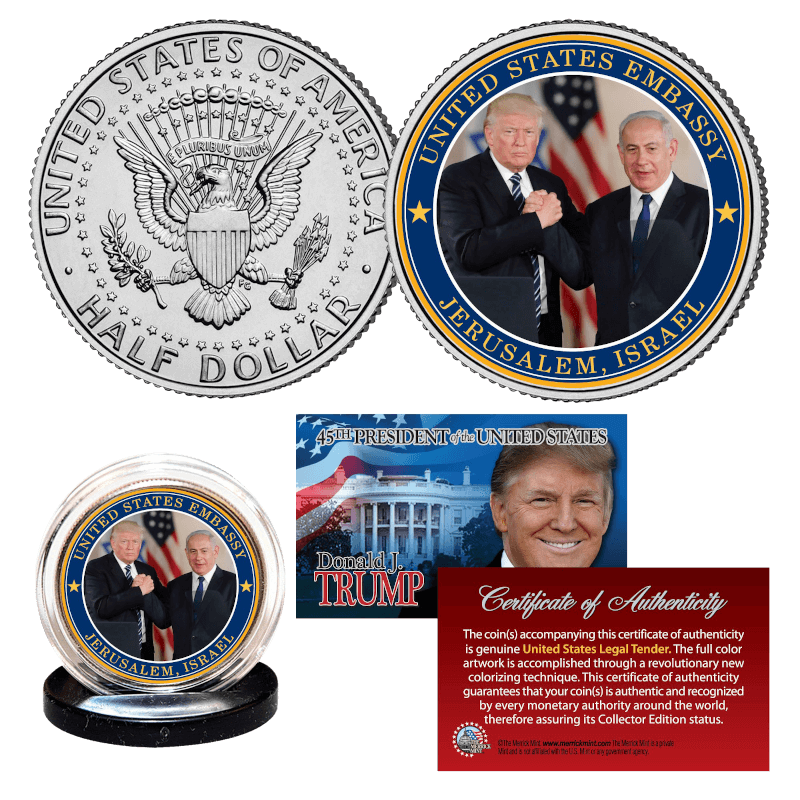 Free Trump Israel Tribute Coin