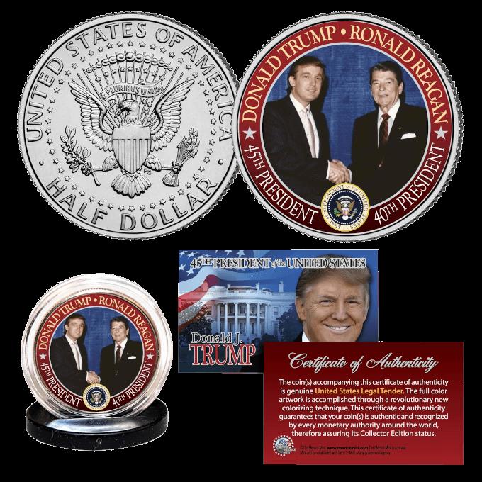 Trump Reagan JFK Half Dollar
