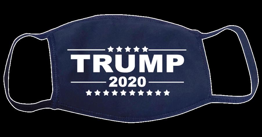 Trump 2020 Face Mask Navy Blue