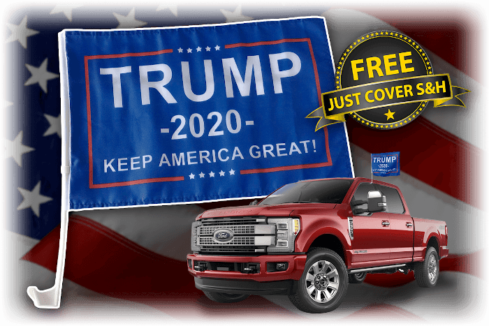 Trump 2020 Car & Truck Flag