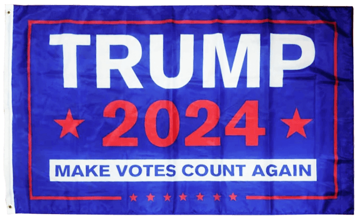 Trump 2024 Flag Blue