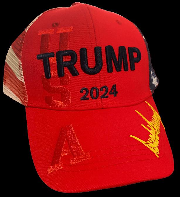 Trump 2024 Hat USA Red