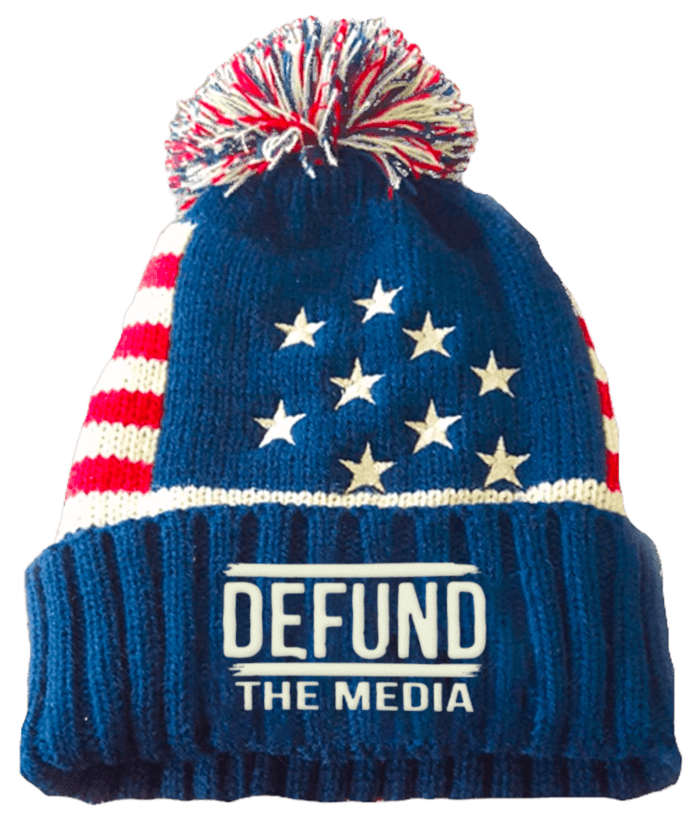 defund the media patriotic beanie