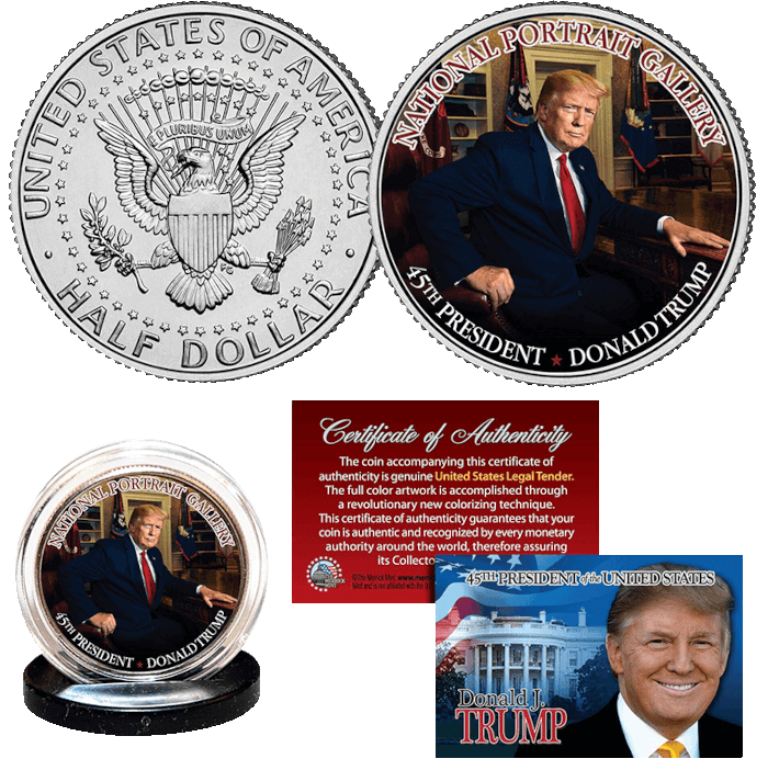 Trump National Portrait Gallery Coin