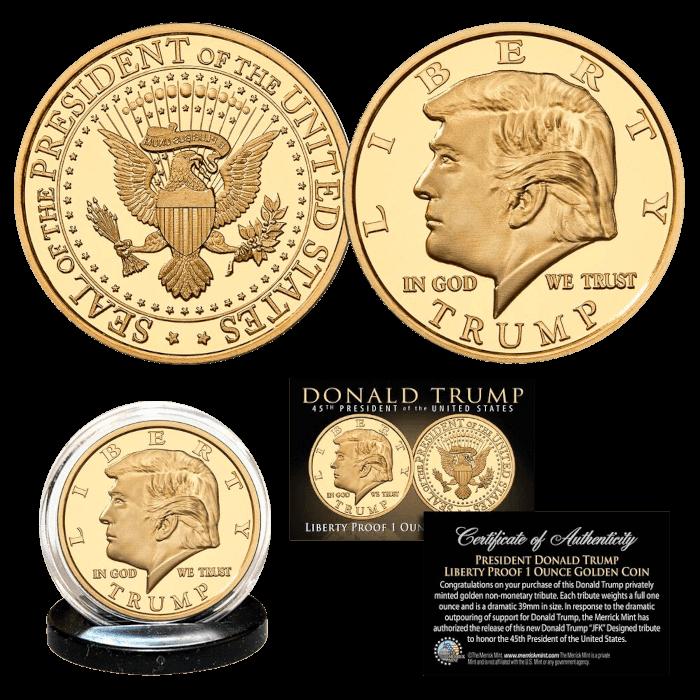 Trump Liberty Proof 1 Oz Gold Coin