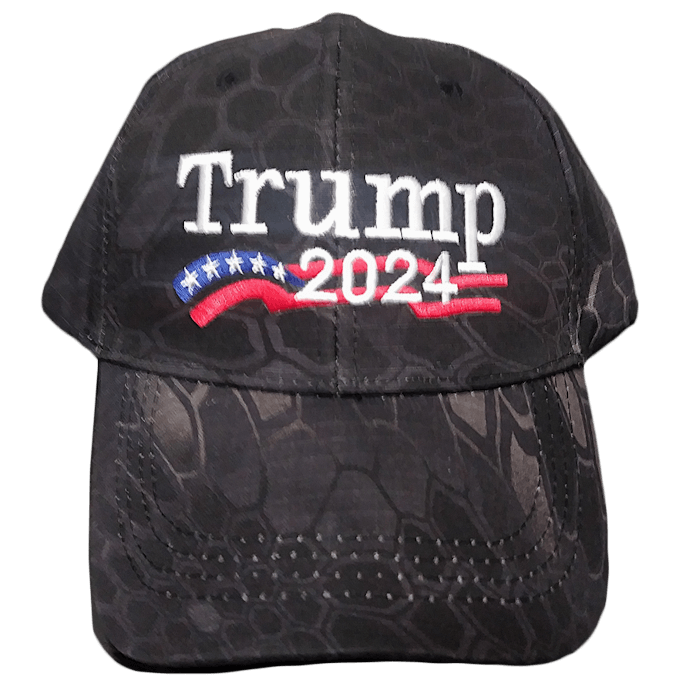 Trump 2024 Dark Camo Hat